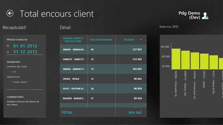 Nouveautés 7.70 - Sage customer view : total encours client