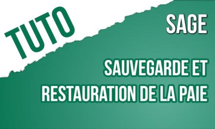 Trucs & Astuce 28 : Sauvegarder et restaurer votre base de paie SAGE i7