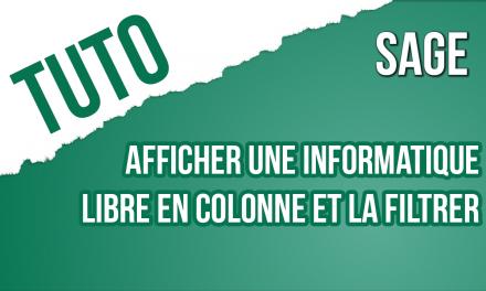 TRUCS & ASTUCE 14 : AFFICHER UNE INFORMATION LIBRE EN COLONNE ET LA FILTRER