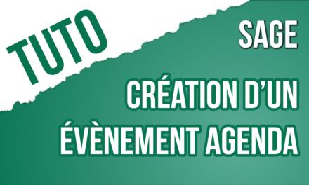 TRUCS & ASTUCE 21 : Comment créer un événement Agenda sur SAGE 100c Gestion Commerciale